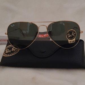NEW Ray-Ban Aviator Gold frame G15 lens sunglasses